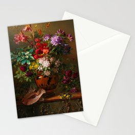 """George Jacobus Johannes van Os """"Still Life with Flowers in a Greek Vase Allegory of Spring"""" Stationery Cards"""