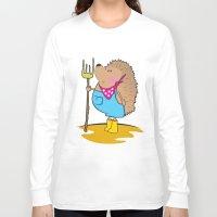 farm Long Sleeve T-shirts featuring Farm life by mangulica illustrations