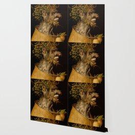 "Giuseppe Arcimboldo ""Four seasons - Winter"" Wallpaper"