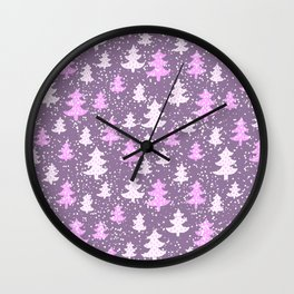 Winter Abstracts 25B Wall Clock