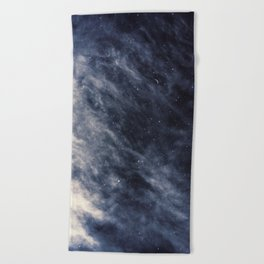 Blue Clouds, Blue Moon Beach Towel