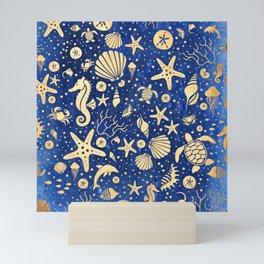 SEALIFE BACKGROUND - Sand INVERTED 15 Mini Art Print
