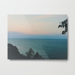 Summer evening sky by the lake Metal Print