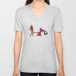 Rapunzel and partner 02 in watercolor Unisex V-Neck