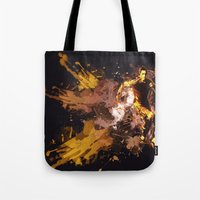 football Tote Bags featuring Football by Frauste