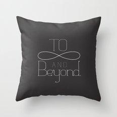 To Infinity... Throw Pillow