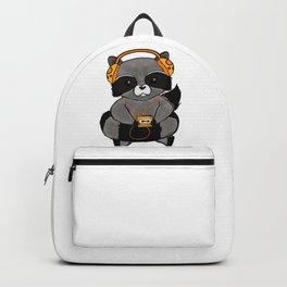 three wise raccoon music Backpack