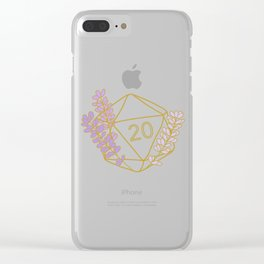 Sweet Crit (Lavender) Clear iPhone Case