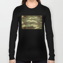Distressed Camouflage Long Sleeve T-shirt