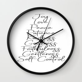 Fruits of the Spirit Wall Clock