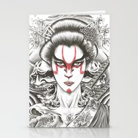 geisha Stationery Cards featuring Geisha by Demones
