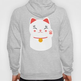 Lucky happy Japanese cat Hoody