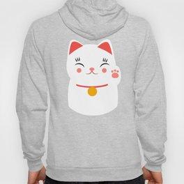 Lucky happy Japanese cat Hoody
