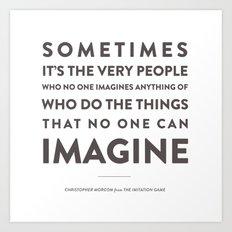 Imagine - Quotable Series Art Print