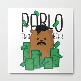 Pablo Escobear Metal Print