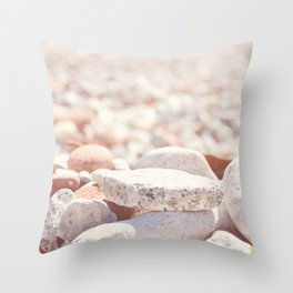 AFE Beach Rocks, Beach Photography Throw Pillow