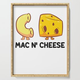 Funny Mac And Cheese Food Lover Powered By Mac & Cheese Serving Tray