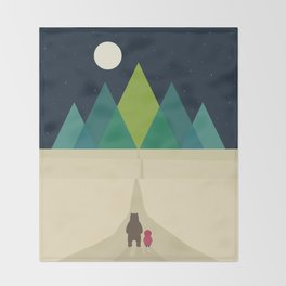Long Journey Throw Blanket