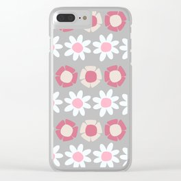 Peggy Pink Clear iPhone Case