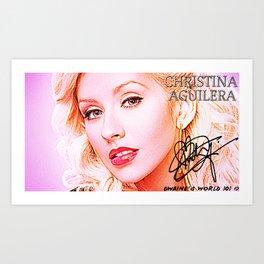 CHRISTINA AGUILERA Art Print