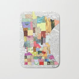 Minnesota in Collage Bath Mat