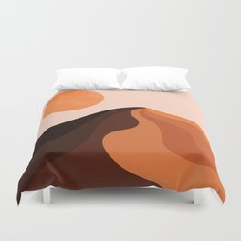 Abstraction_SUN_MOUNTAINS_Bohemian_Minimalism_002 Duvet Cover