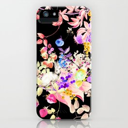 Soft Bunnies black iPhone Case