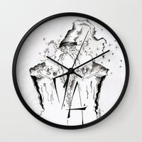 army Wall Clocks featuring Dumbledore's Army by Jena Sinclair
