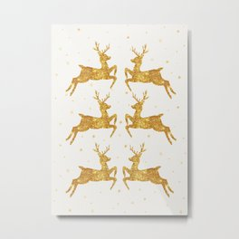 Golden Deers Metal Print