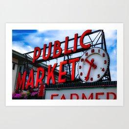The Heart of Seattle  Art Print