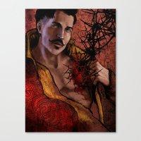 "dragon age inquisition Canvas Prints featuring Dragon Age Inquisition - Dorian Pavus - Thorn by Barbara ""Yuhime"" Wyrowińska"