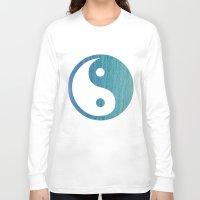 yin yang Long Sleeve T-shirts featuring Yin Yang by shans