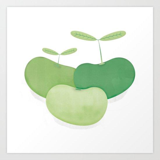 Three peas from a pod Art Print