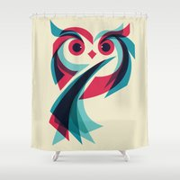 owl Shower Curtains featuring Owl by Jay Fleck