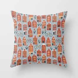 Charming Dutch Houses Throw Pillow