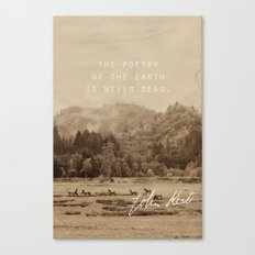 Keats: Poetry Canvas Print