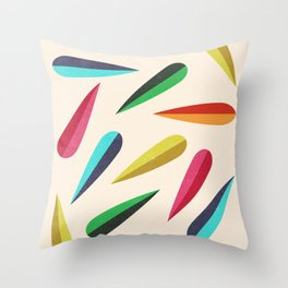 Feathers II Cascading Colors Throw Pillow