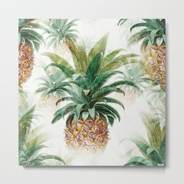Yummy vacation fruits - Healthy Hawaiian pineapple Metal Print
