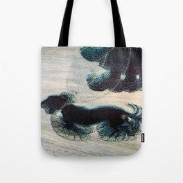 Dynamism of a Dog on a Leash, Vintage Minimalist Art Tote Bag