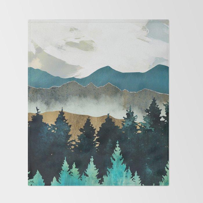 Forest Mist Throw Blanket