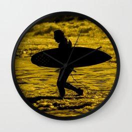 Surfer Silhouette  Wall Clock