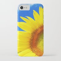 sunflower iPhone & iPod Cases featuring SUNFLOWER by Ylenia Pizzetti