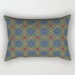 blue and red flowers Rectangular Pillow