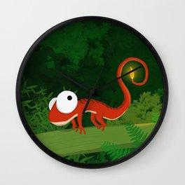 Fire Gecko Wall Clock
