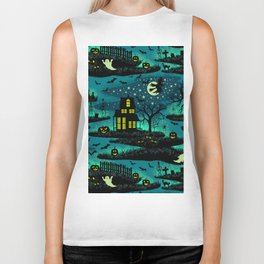 Halloween Night - Fox Fire Green Biker Tank