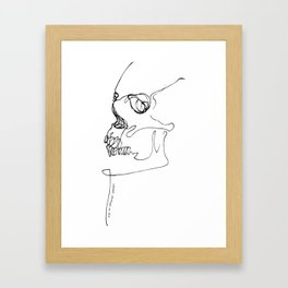 SKULL // Adapt, change or die Framed Art Print