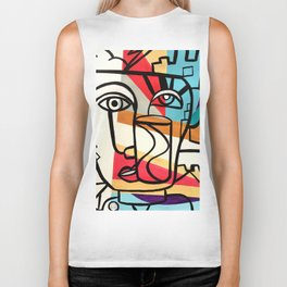 URBAN POP ART - ORIGINAL ART COLORFUL ROBERT R Biker Tank