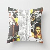 persona Throw Pillows featuring Persona Solara by Antimatéria