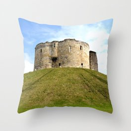 Clifford's Tower - York Throw Pillow