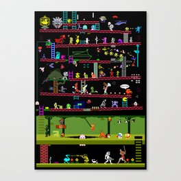50 Classic Video Games Canvas Print